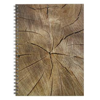 Carnet en coupe de photo de chêne