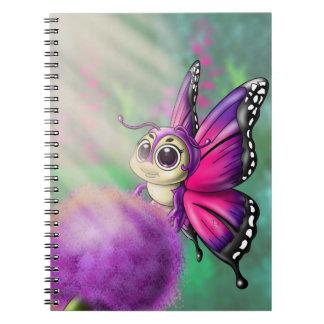 Carnet en spirale de photo de Cutie de papillon