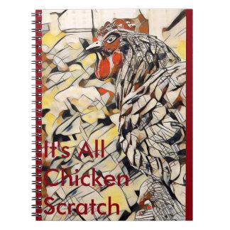 Carnet Éraflure de poulet (carnet)
