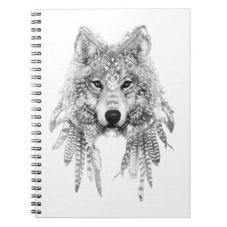 Carnet Esprit tribal de loup