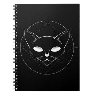 Carnet étranger de noir de chat