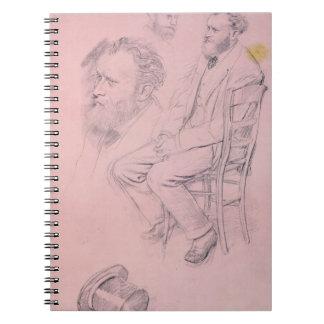 Carnet Étude d'Edgar Degas | pour le portrait d'Edouard
