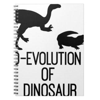 Carnet Évolution de D d'organisme de dinosaure
