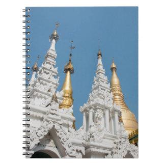 Carnet Extérieur de pagoda de Shwedagon