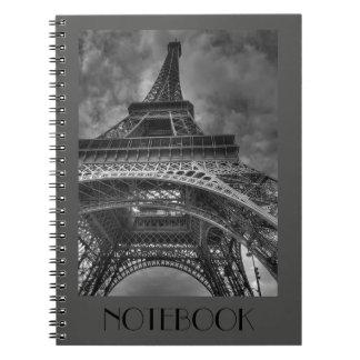 Carnet fait sur commande de gris de Tour Eiffel de