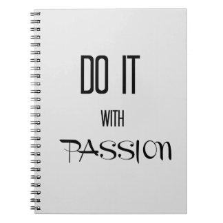 Carnet Faites-le avec passion