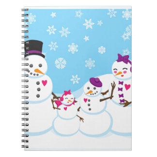 Carnet Famille de neige d'hiver