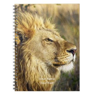 Carnet Faune africaine sauvage customisée de tête de lion