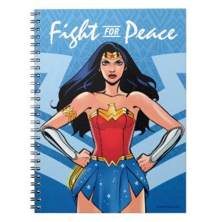 Carnet Femme de merveille - combat pour la paix