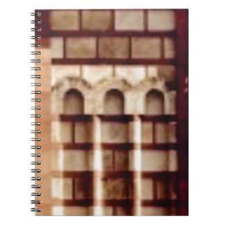 Carnet fenêtre brune de bloc