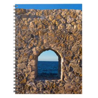 Carnet Fenêtre vers la mer Égée