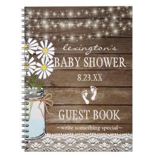 Carnet Ficelle du Guestbook blanc | de baby shower de