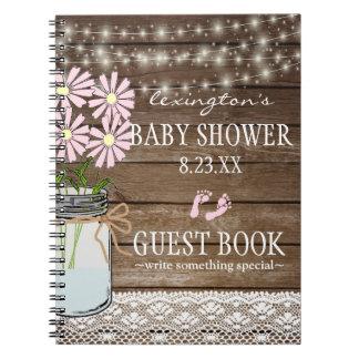 Carnet Ficelle du Guestbook | de baby shower de pays de