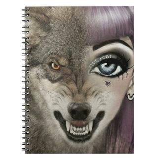 Carnet Fille de loup de bande dessinée