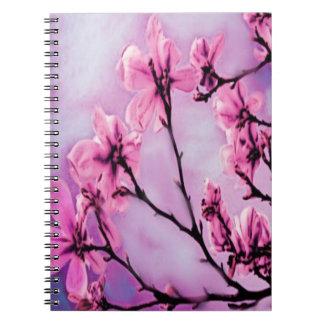 Carnet Fleurs de cerisier roses