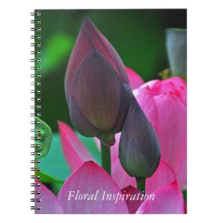 Carnet Fleurs roses de Lotus