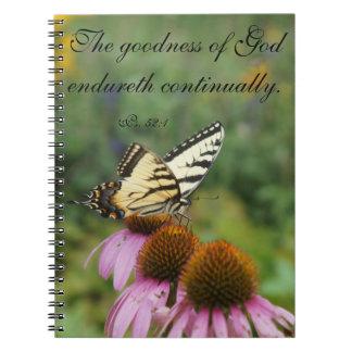 Carnet floral d'éloge de papillon jaune