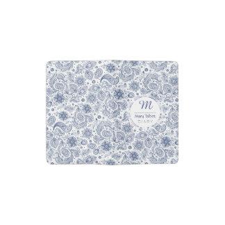 Carnet floral vintage bleu C du monogramme M de