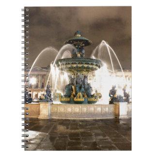 Carnet Fontaine aux lumières de Paris