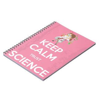 Carnet Gardez la Science de calme et de confiance