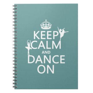 Carnet Gardez le calme et dansez sur (ballet) (toutes les