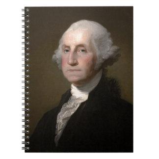 Carnet George Washington - portrait vintage d'art