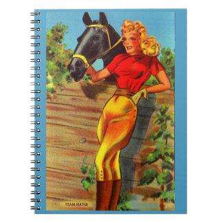 Carnet goupille- gallon des années 1940 et cheval