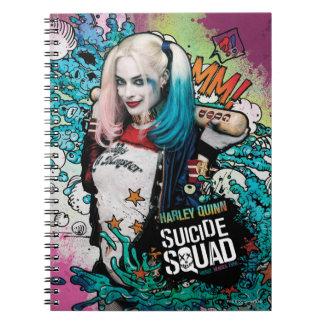 Carnet Graffiti de caractère du peloton | Harley Quinn de