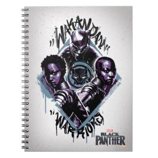 Carnet Graffiti de guerriers de la panthère noire |