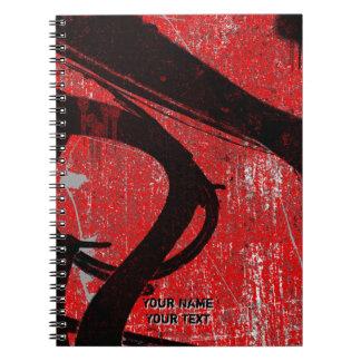 Carnet Graffiti rouge urbain frais personnalisé