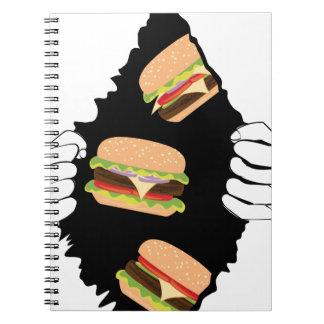 Carnet Grand hamburger savoureux et Hands3