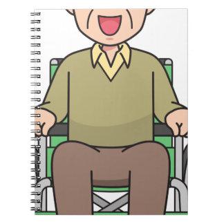 Carnet Grand-père dans le fauteuil roulant