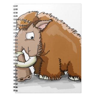 Carnet Grande bande dessinée brune de cool de mammouth
