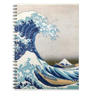 Carnet Grande vague outre des beaux-arts de Kanagawa