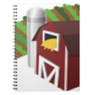 Carnet Grange avec le dessin de silo