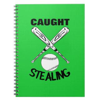 Carnet Graphique drôle de base-ball de citation d'humour
