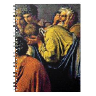 Carnet groupe de gens antiques