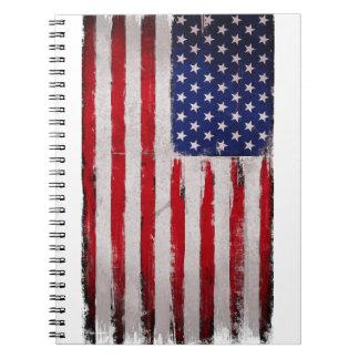 Carnet Grunge de drapeau des Etats-Unis