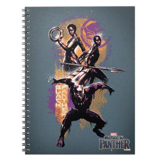 Carnet Guerriers de la panthère noire | Wakandan peints