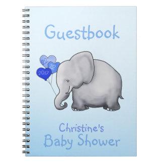 Carnet Guestbook bleu mignon de baby shower de garçon