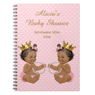 Carnet Guestbook ethnique de princesse Twins Pink Quilted