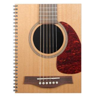 Carnet Guitares acoustique de ficelle de cuirassé six