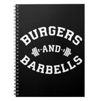 Carnet Hamburgers et haltères - motivation de levage de