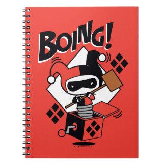 Carnet Harley-Quinn-Dans-UN-Box de Chibi avec le marteau