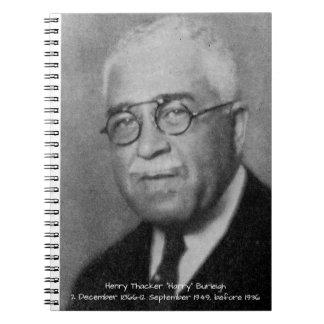 "Carnet Henry Thacker ""Harry"" Burleigh"