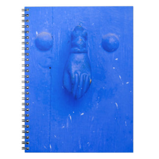Carnet Heurtoir de porte bleu vertical