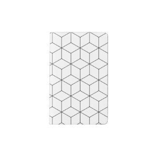 Carnet hexagonal élégant de cubes - poche