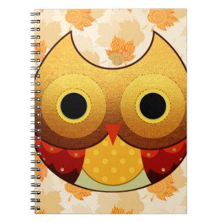 Carnet Hibou adorable d'automne