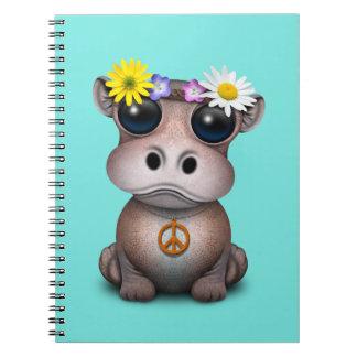 Carnet Hippie mignonne d'hippopotame de bébé