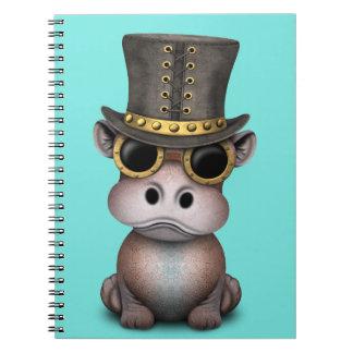 Carnet Hippopotame de bébé de Steampunk
